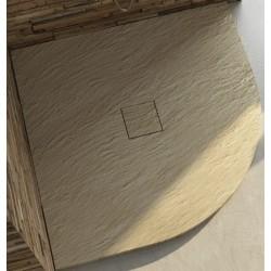 Piatto Doccia in Marmo Resina Semicircolare (ad Angolo) con Piletta Materica