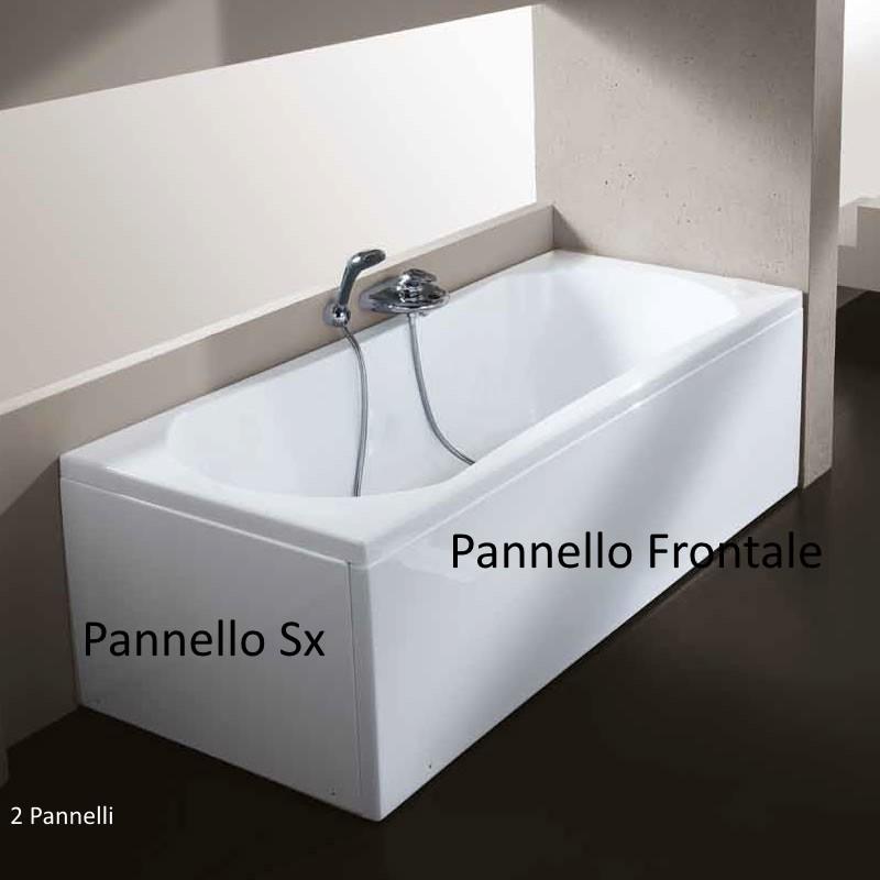 Vasca con pannello 70 x 105 120 140 150 160 170 180 cm in for Vasche in vetroresina