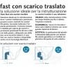 Vaso Fast Pozzi Ginori con Scarico Traslato con Tecnologia Rimfree