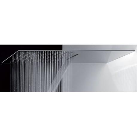 Soffione Doccia Ultrapiatto 50X25XH0,3 cm a Muro in Acciaio Lucido 2 Getti Mariani SRO/05