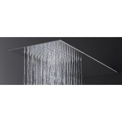 Soffione Doccia Ultrapiatto 50X25XH0,3 cm a Muro in Acciaio Lucido 1 Getto Mariani SRO/04