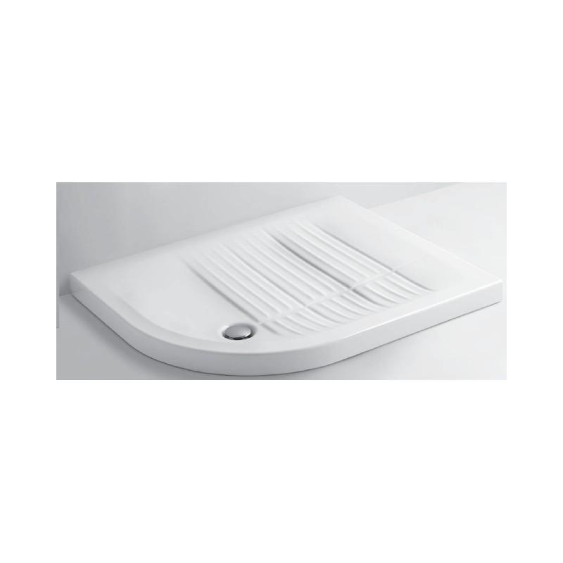 Azzura - Piatto Doccia Slim cm 90X70 Angolo Sinistro Inclusa Piletta