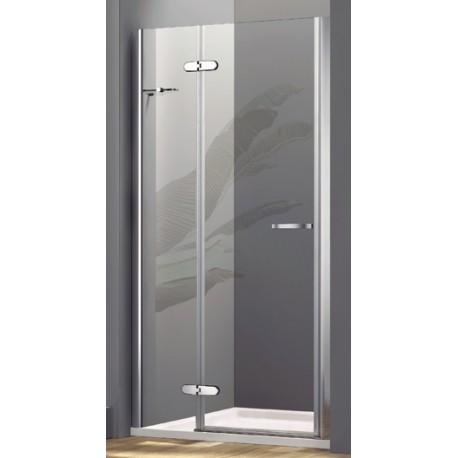 Box doccia con porta a battente cristallo 8 mm con trattamento anticalcare art os45 vendita - Box doccia globo ...