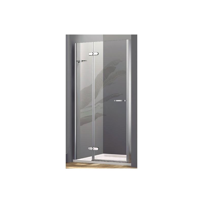 Box doccia con porta a battente cristallo 8 mm con - Box doccia porta battente ...