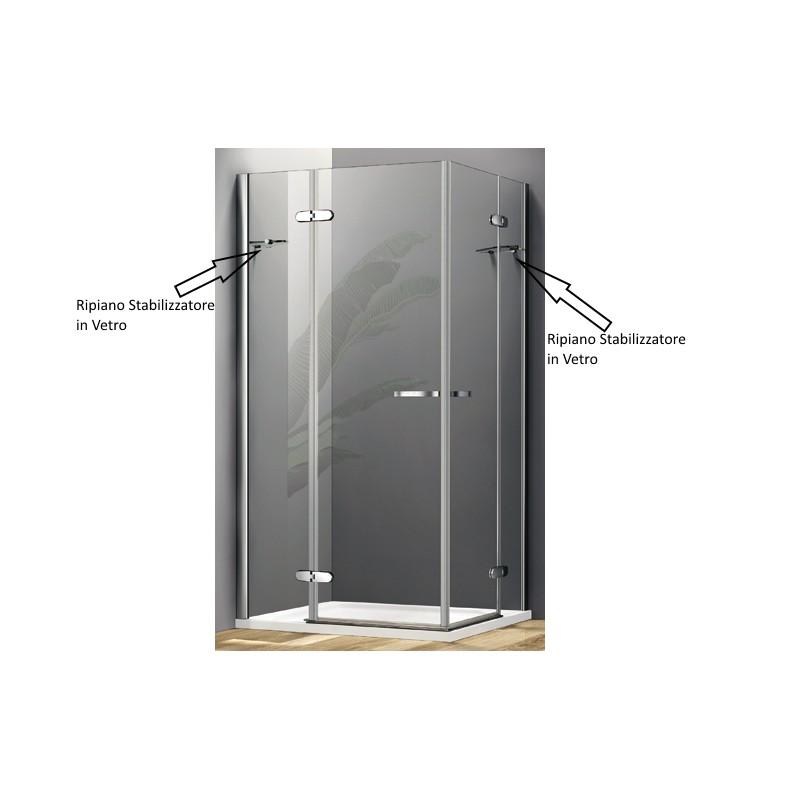 Box doccia con due porte a battente cristallo 8 mm vendita online italiaboxdoccia - Box doccia globo ...
