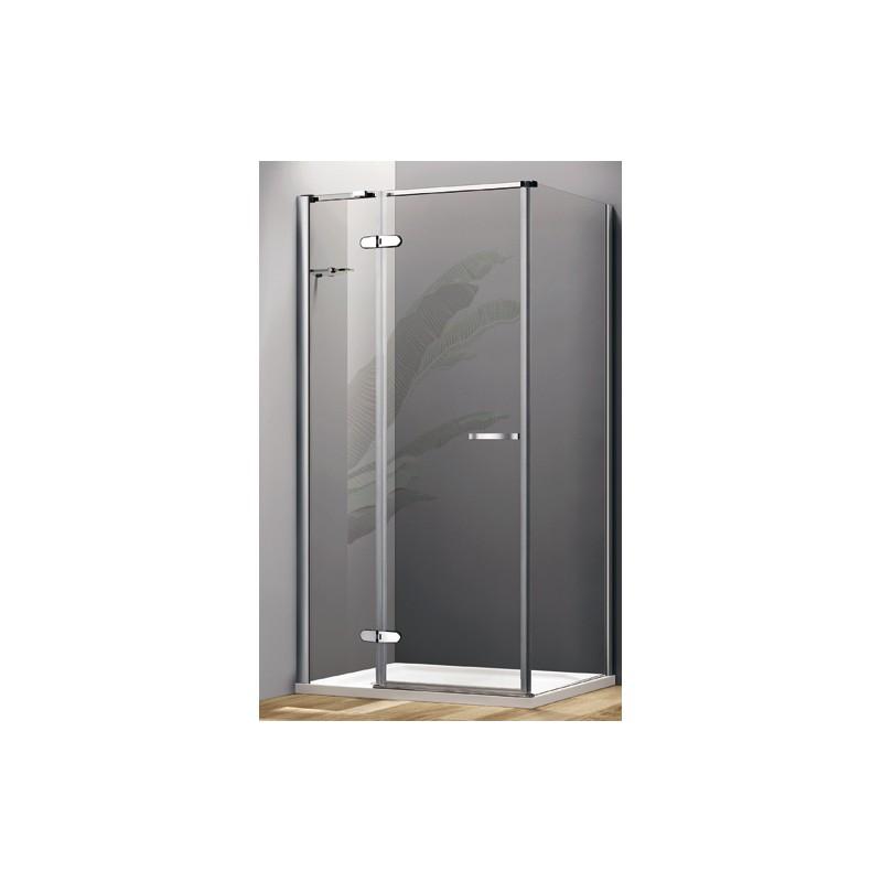 Box doccia con porta a battente e parete fissa cristallo 8 - Box doccia porta battente ...