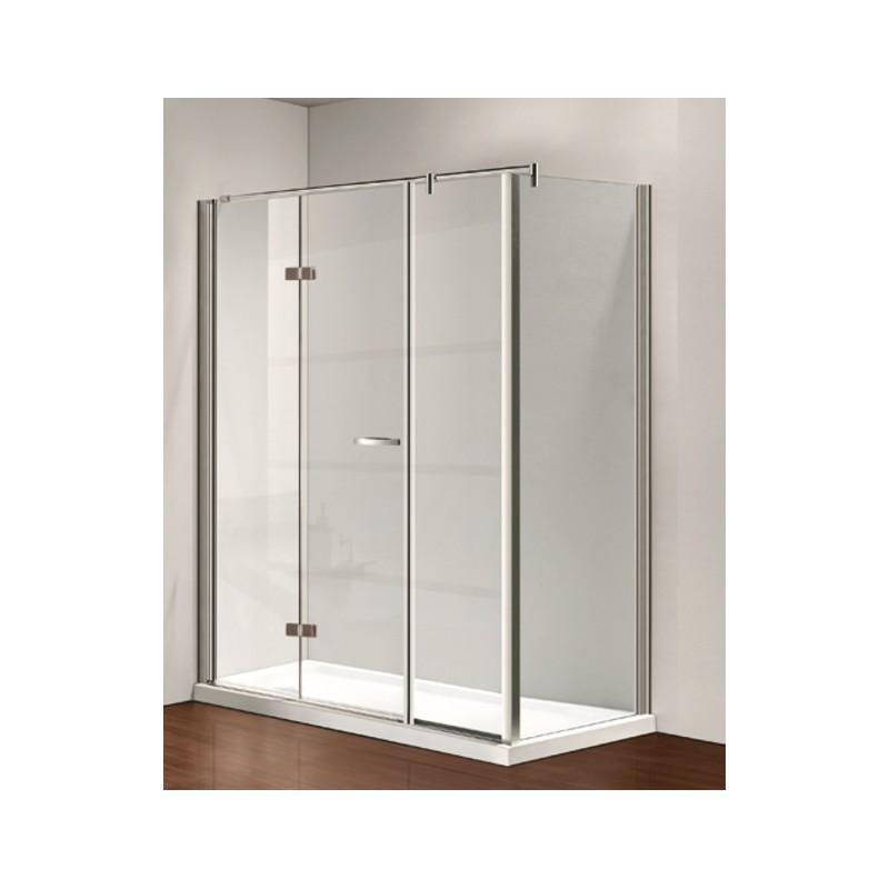 Box Doccia Cristallo Anta Fissa : Osb box doccia con porta girevole anta fissa e parete