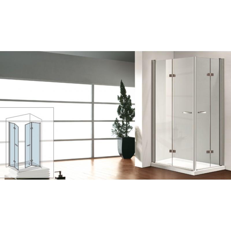 Osb box doccia con porte girevoli 6 mm altezza 190 cm - Altezza box doccia ...