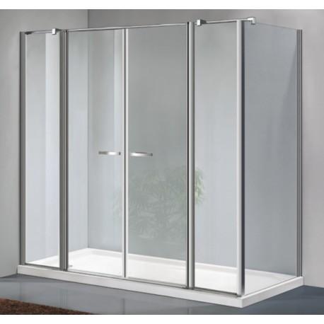 Osb box doccia con porta saloon 2 ante fisse parete - Porta doccia saloon ...