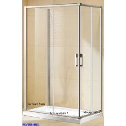 Box Doccia da Centro Stanza ad U Cristallo 6 mm Altezza 185 cm (COD.P133)