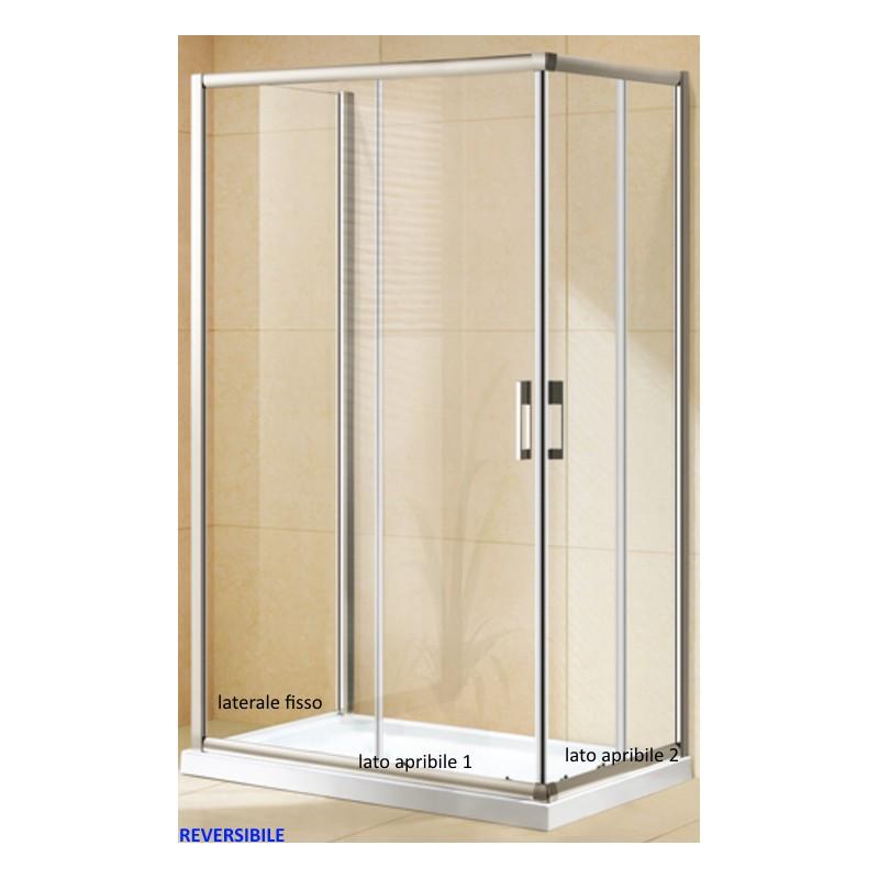 Box doccia da centro stanza ad u cristallo 6 mm altezza - Altezza box doccia ...