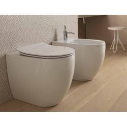 Vaso + Bidet Like Gsg Filo Muro con Tecnologia Smart Clean