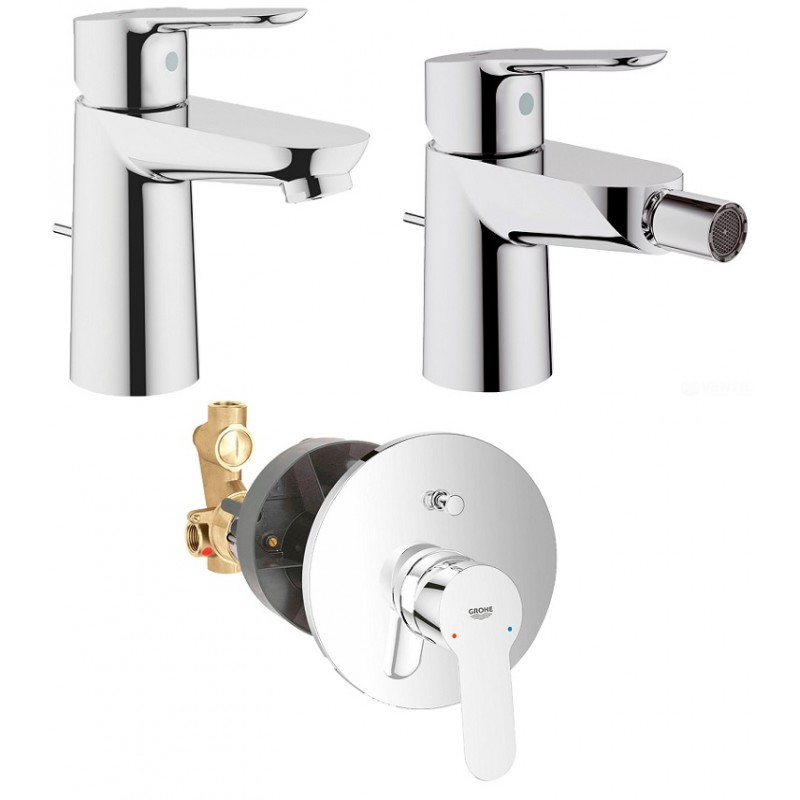 Grohe miscelatori bauedge lavabo bidet doccia - Miscelatori grohe bagno ...
