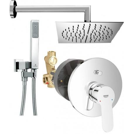 Grohe set doccia incasso con deviatore bauedge braccio soffione - Soffione doccia da incasso ...