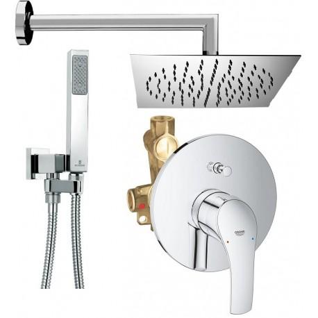 Grohe set completo doccia incasso con deviatore grohe eurosmart - Soffione doccia da incasso ...