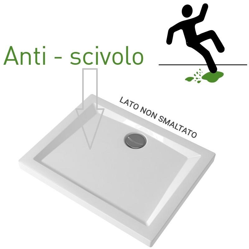 Piatti Doccia Pozzi Ginori Ceramica.Pozzi Ginori Piatto Doccia 100x70 Cm Bianco Lucido Spessore 60 Mm