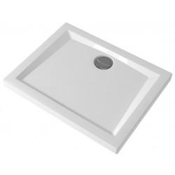 Piatto Doccia 100X80 cm Pozzi Ginori Bianco Lucido Rettangolare Spessore 60 mm