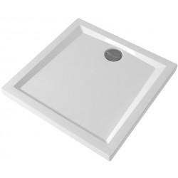 Piatto Doccia 80x80 cm Pozzi Ginori Bianco Lucido Quadrato Spessore 60 mm