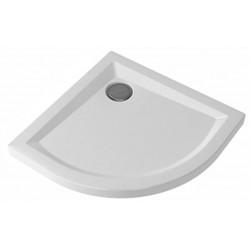 Piatto Doccia Semicircolare 80x80 Altezza 6 cm Pozzi Ginori  Bianco Lucido