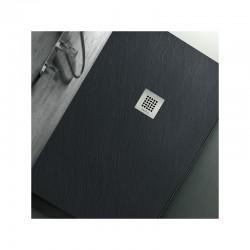 Su Misura da 90 cm H 2,5 Piatto Doccia in Pietra Sintetica Ardesia (Mineral Marmo - Marmo Resina)