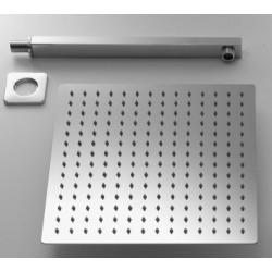 Completo Set Doccia Quadrato con Soffione 20x20 cm + Braccio Doccia Marca Jacuzzi