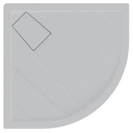Piatto Doccia 80X80 cm Graffio Pozzi Ginori Bianco + Copripiletta ad Angolo (Semicircolare) Spessore 60 mm
