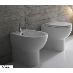 Vaso + Bidet 4All Globo con Scarico Multi (Traslato) + Coprivaso Soft Close (Incluso)