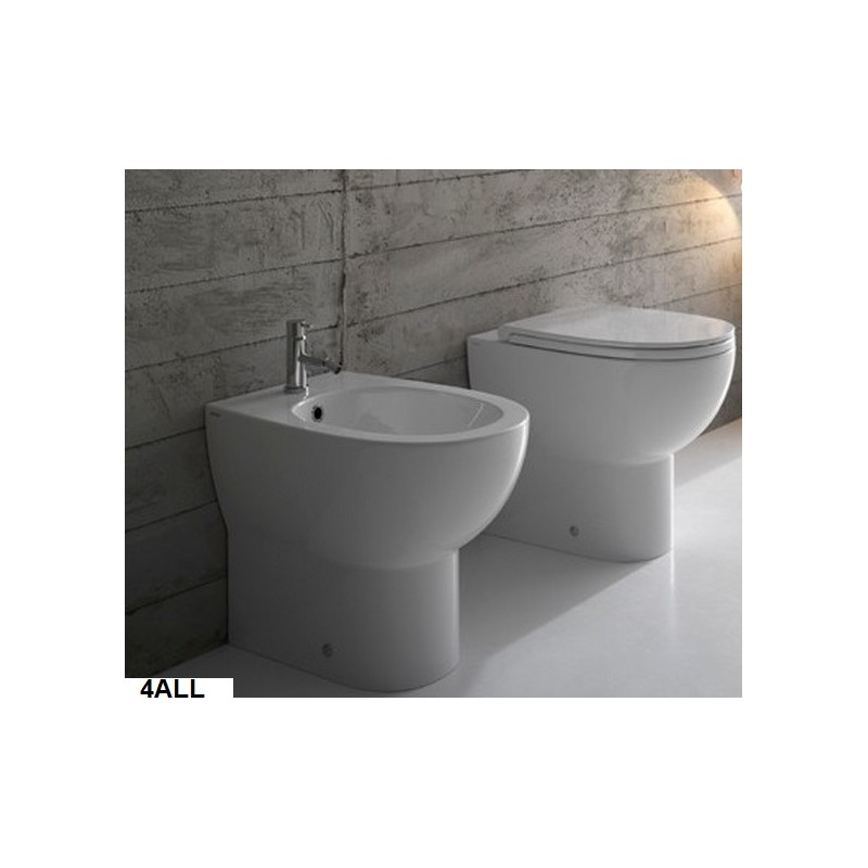 Vaso + Bidet 4All Globo Con Scarico Multi + Coprivaso Soft Close (Incluso)  ...