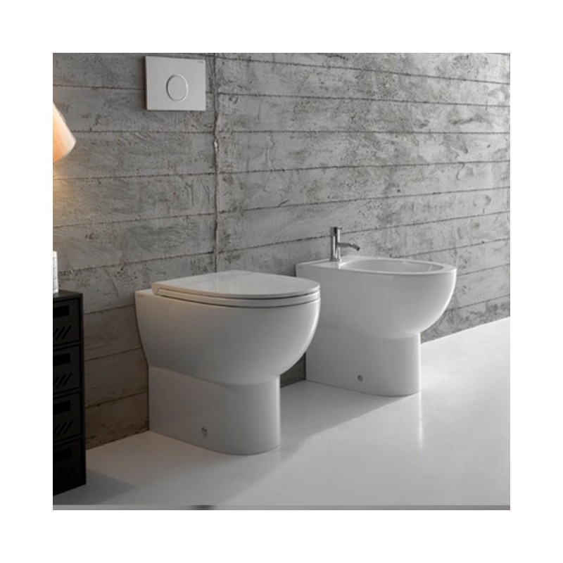 ... Vaso + Bidet 4All Globo Con Scarico Multi + Coprivaso Soft Close  (Incluso) ...