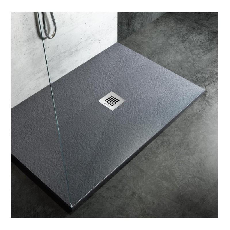 Piatto doccia in marmo resina ardesia su misura diversi colori roccia - Piatto doccia sassi ...