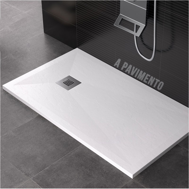 Solid surface piatto doccia su misura da 60 cm altezza 3 for Piatto doccia misure