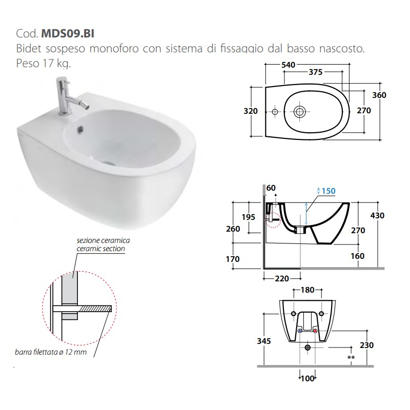 Marvelous ... Vaso Senza Brida + Bidet Sospesi 4All Globo ...