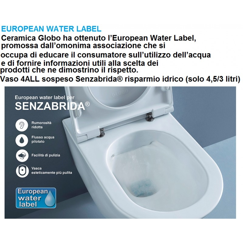 Captivating ... Vaso Senza Brida + Bidet Sospesi 4All Globo ...