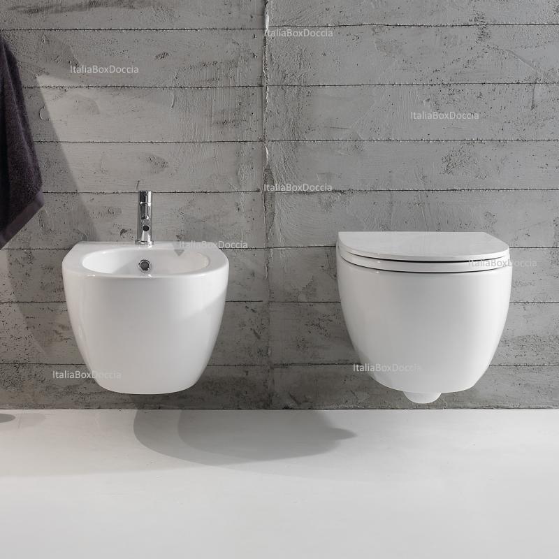Globo sanitari vaso e bidet sospesi 4all mds02 bi mds09 bi - Sanitari bagno globo ...