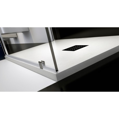 Last Minute H 2,5 cm Piatto Doccia in Pietra Sintetica Ardesia (Mineral Marmo - Marmo Resina)  Unico Colore: Bianco