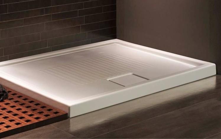 Piatto Doccia 120x80 In Ceramica.Hatria Piatto Doccia 120x80 Cm Lif St Bianco Lucido Spessore 60 Mm
