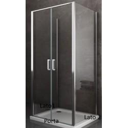 Box Doccia da Centro Stanza ad U Apertura Saloon Cristallo 6 mm Altezza 190 cm (COD.P359)