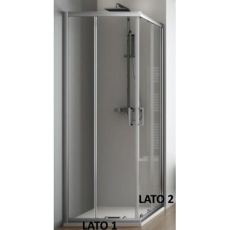 Box Doccia Angolare Cristallo 6 mm Profilo Cromo Altezza 190 cm (f21)