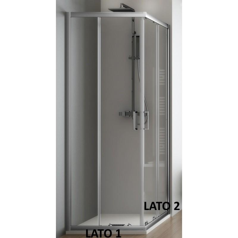 Cabina doccia box doccia angolare cristallo 6 mm profilo for Box doccia cristallo