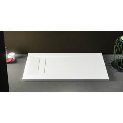 Su Misura H 3 cm Piatto Doccia in Solid Surface Classic Disponibile in 16 Colori con Copri piletta in Tinta