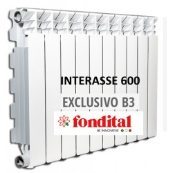 Radiatore in Alluminio Interasse 600 Fondital Exclusivo B3