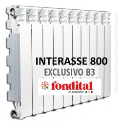 Radiatore in Alluminio Interasse 800 Fondital Exclusivo B3