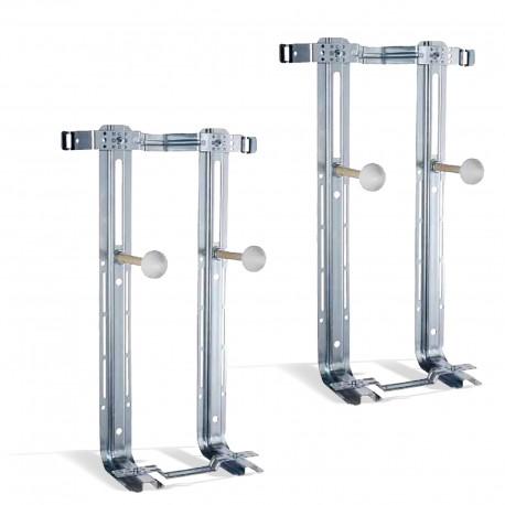 Coppia di staffe per vaso + bidet sospesi in acciaio portata 400 kg Misura Standard