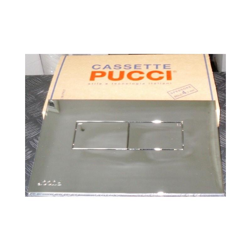 Pucci - Cassetta Eco Completa di Placca Mod. Linea Cromo
