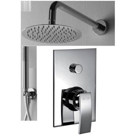 Jacuzzi set completo doccia incasso con deviatore ray - Soffione doccia incasso ...