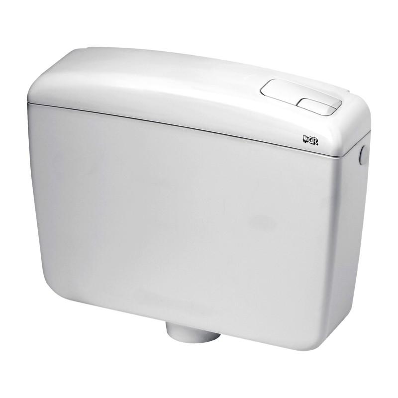 Cassetta a zaino plus 2 mono tasto con risparmio d acqua - Cassetta scarico wc esterna montaggio ...
