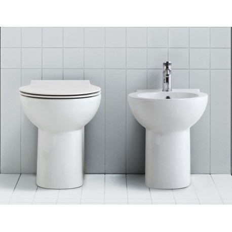 Vaso + Bidet 4All Globo con Scarico Multi + Coprivaso Soft Close (Incluso)