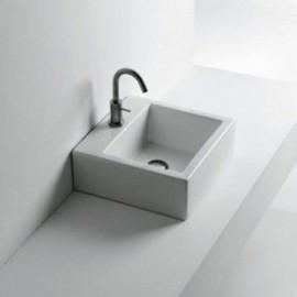 Lavabo Quadro da Appoggio/Sospeso cm50x50 Marca: Azzurra