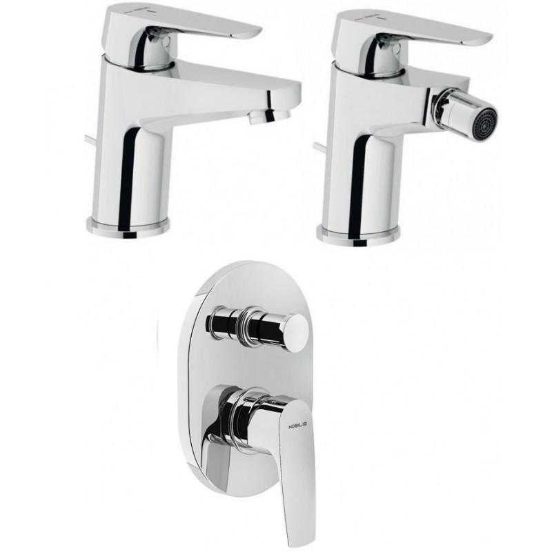 Nobili miscelatori lavabo bidet doccia con deviatore nobi - Nobili accessori bagno ...
