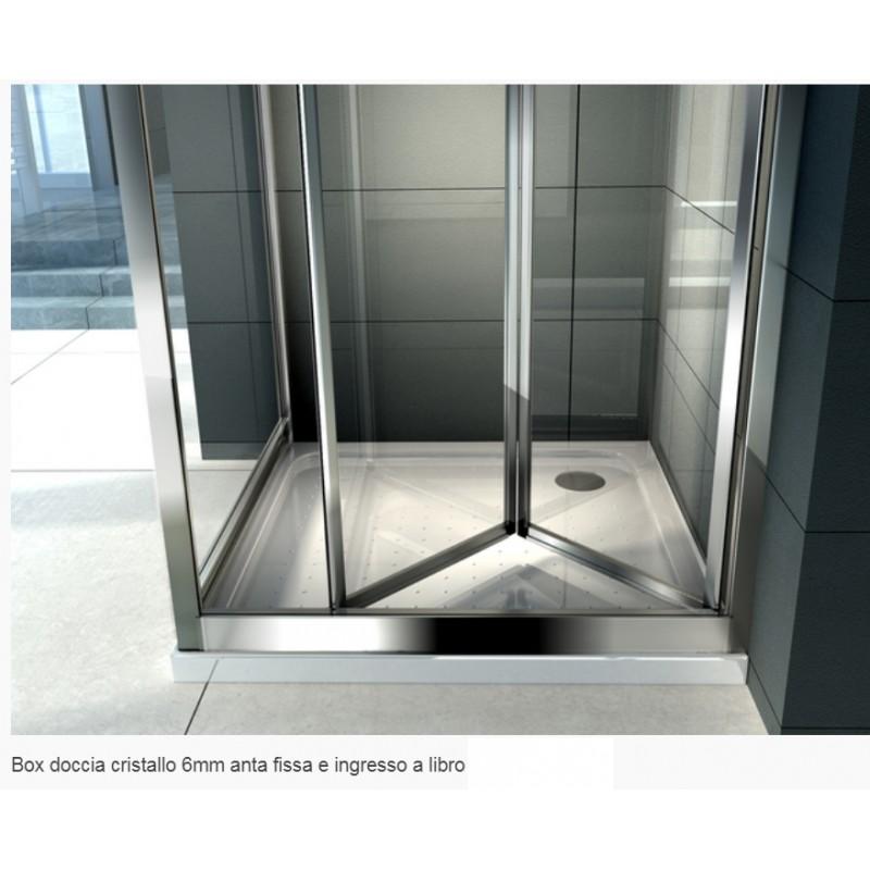 Box Doccia Cristallo Anta Fissa : Libro box doccia a soffietto cristallo mm trasparente